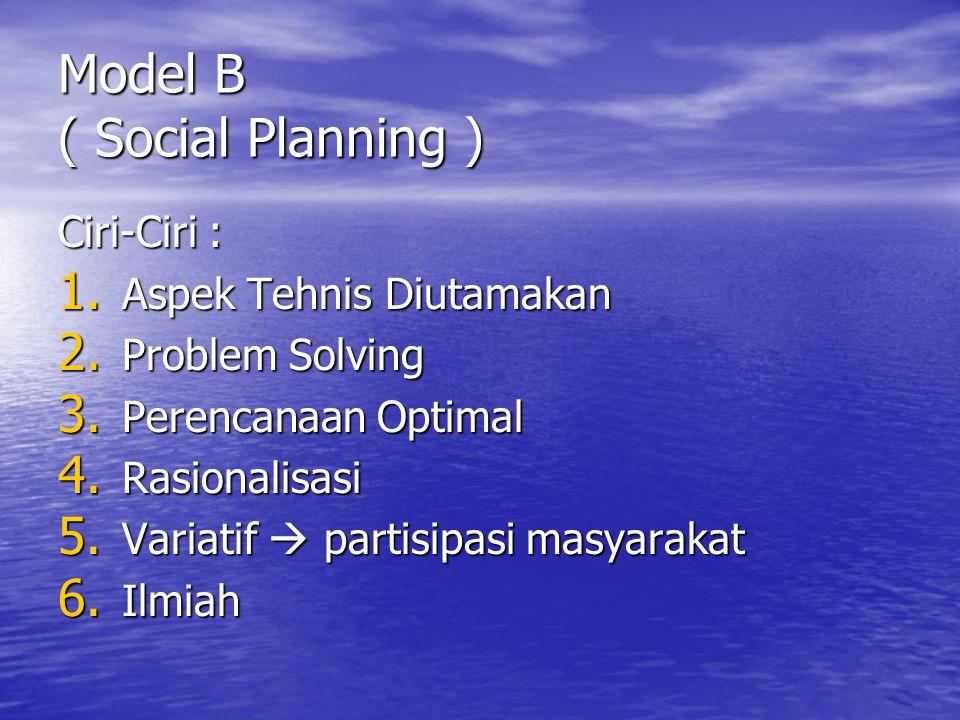 Model B ( Social Planning )