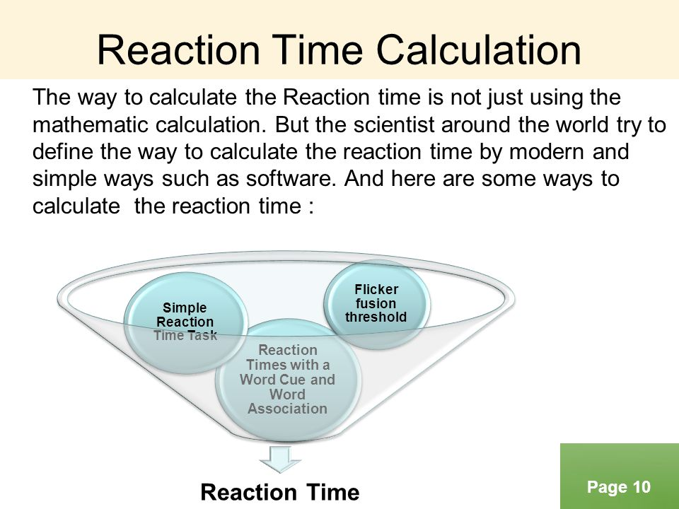 Reaction Time Calculation