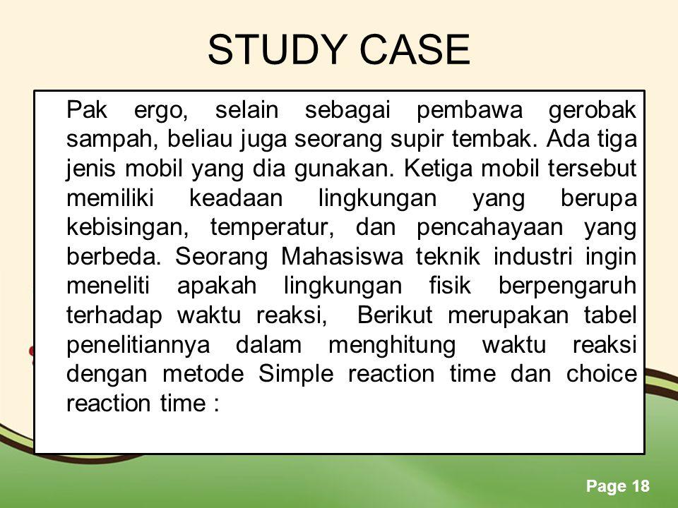 STUDY CASE