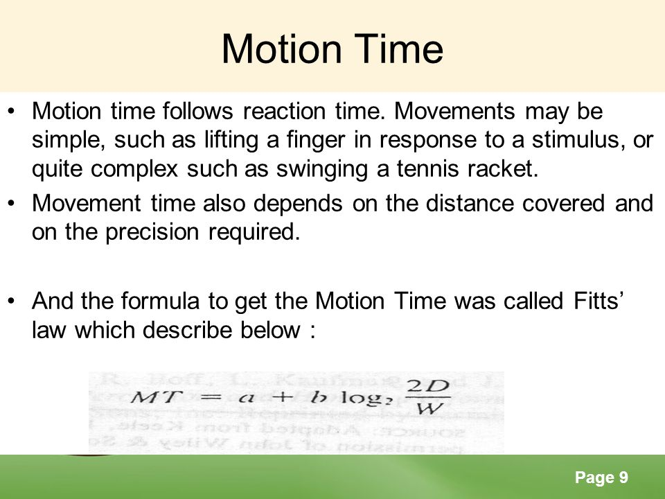 Motion Time