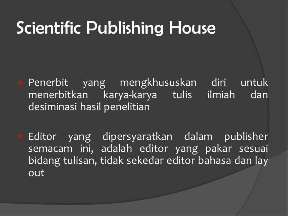 Scientific Publishing House