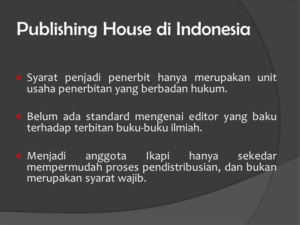 Publishing House di Indonesia