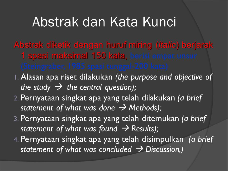 Abstrak dan Kata Kunci