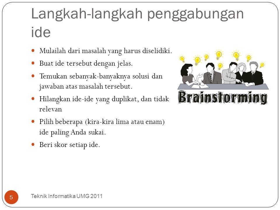 Langkah-langkah penggabungan ide