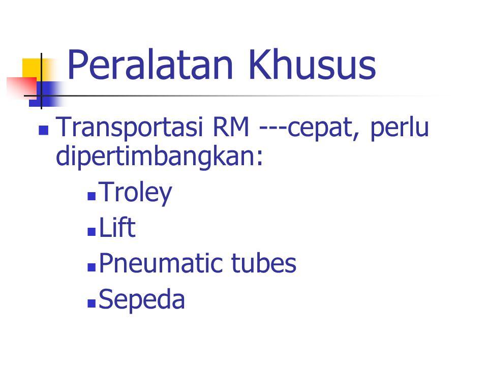 Peralatan Khusus Transportasi RM ---cepat, perlu dipertimbangkan: