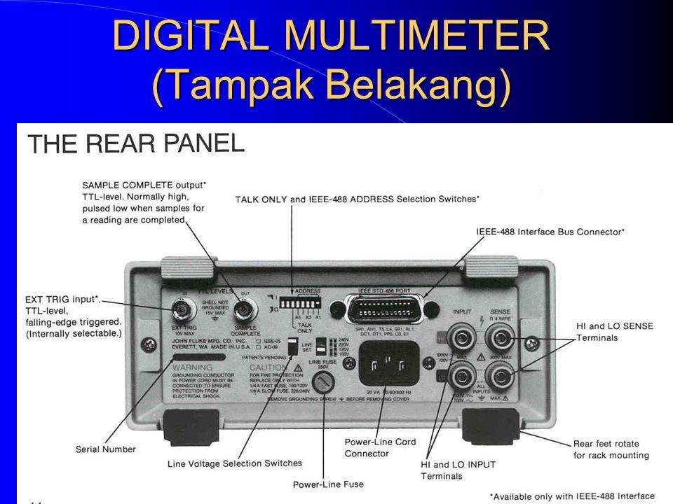 DIGITAL MULTIMETER (Tampak Belakang)