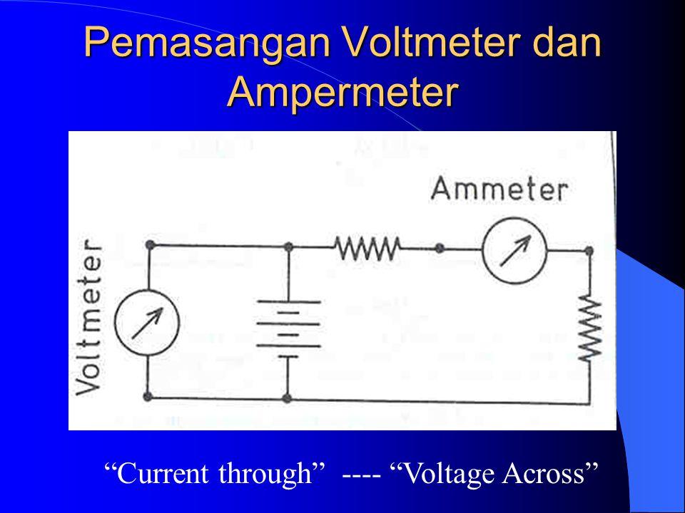 Pemasangan Voltmeter dan Ampermeter