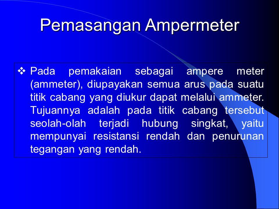 Pemasangan Ampermeter