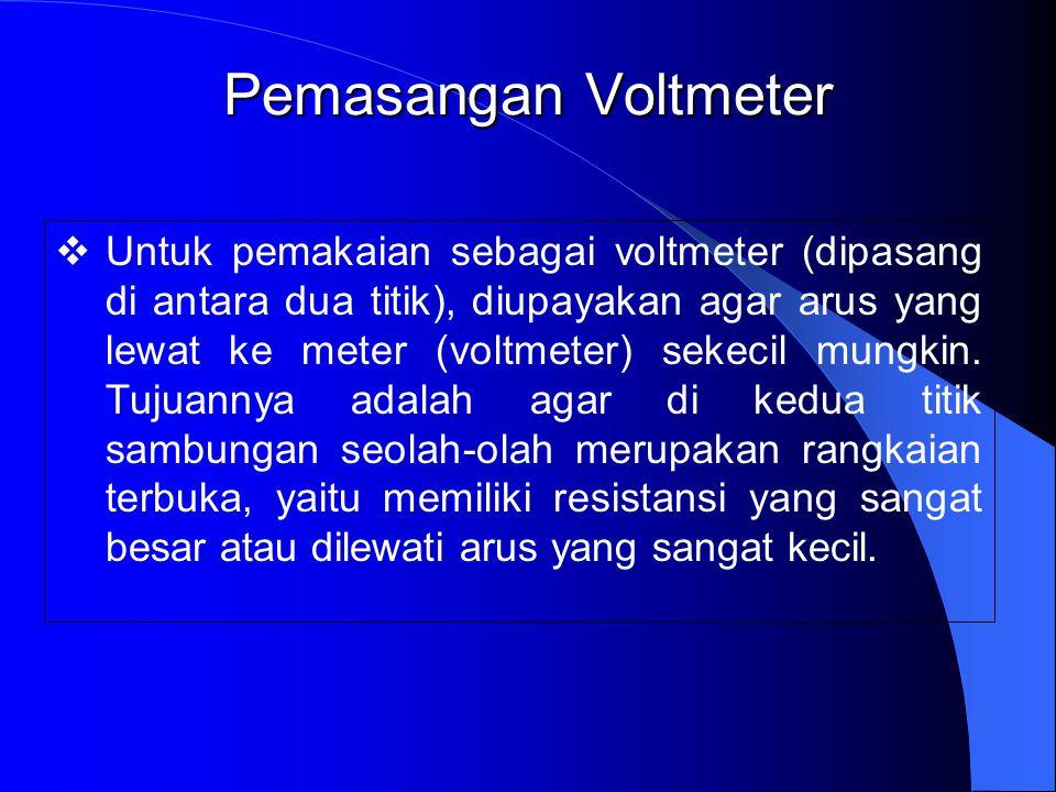 Pemasangan Voltmeter