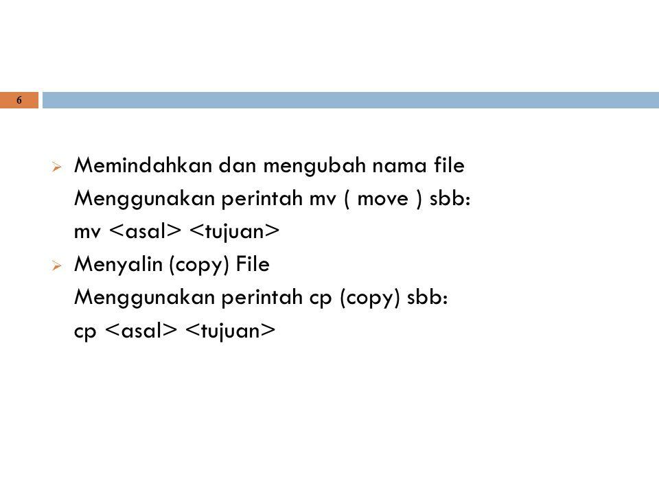 Memindahkan dan mengubah nama file