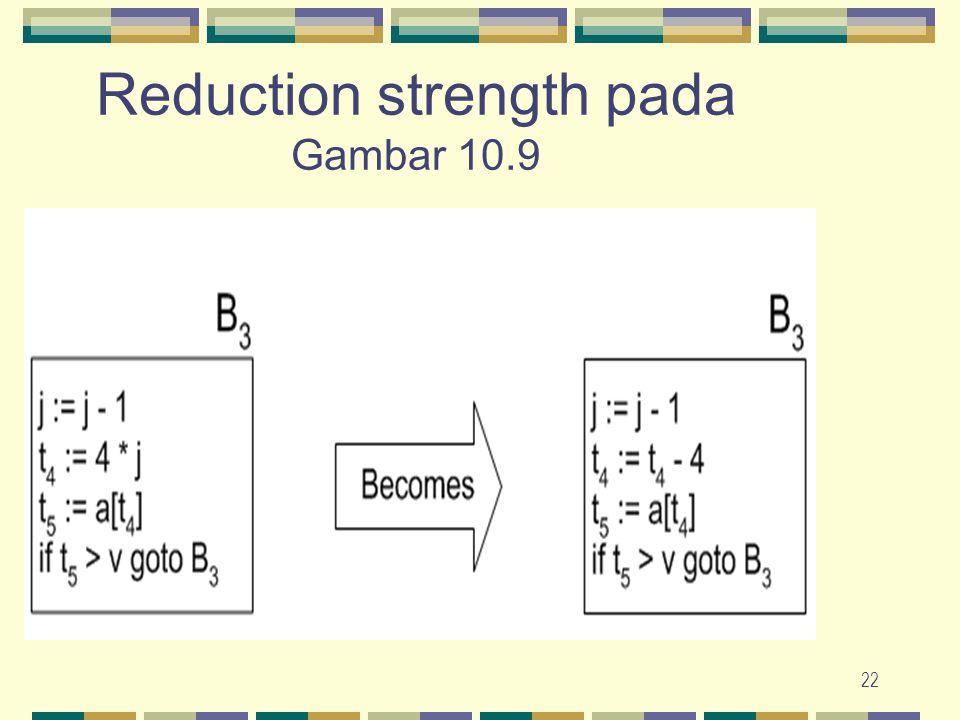 Reduction strength pada Gambar 10.9