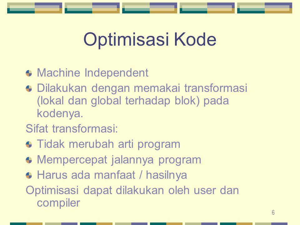 Optimisasi Kode Machine Independent