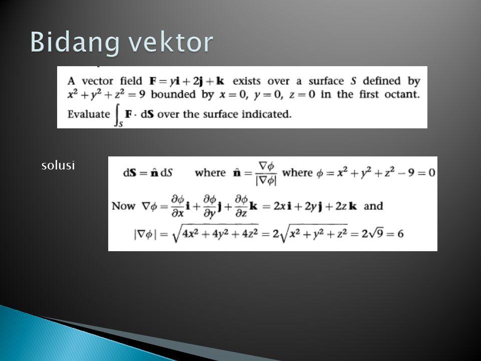 Bidang vektor solusi
