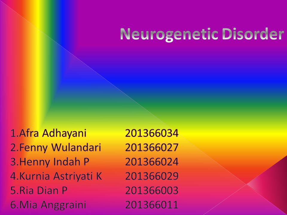 Neurogenetic Disorder