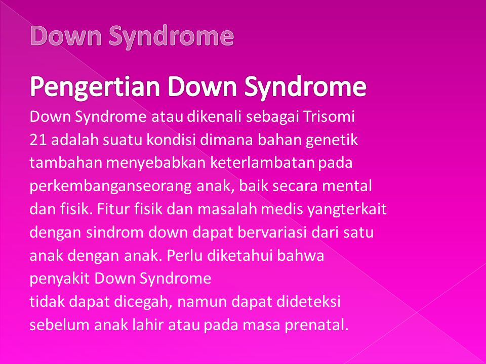 Pengertian Down Syndrome