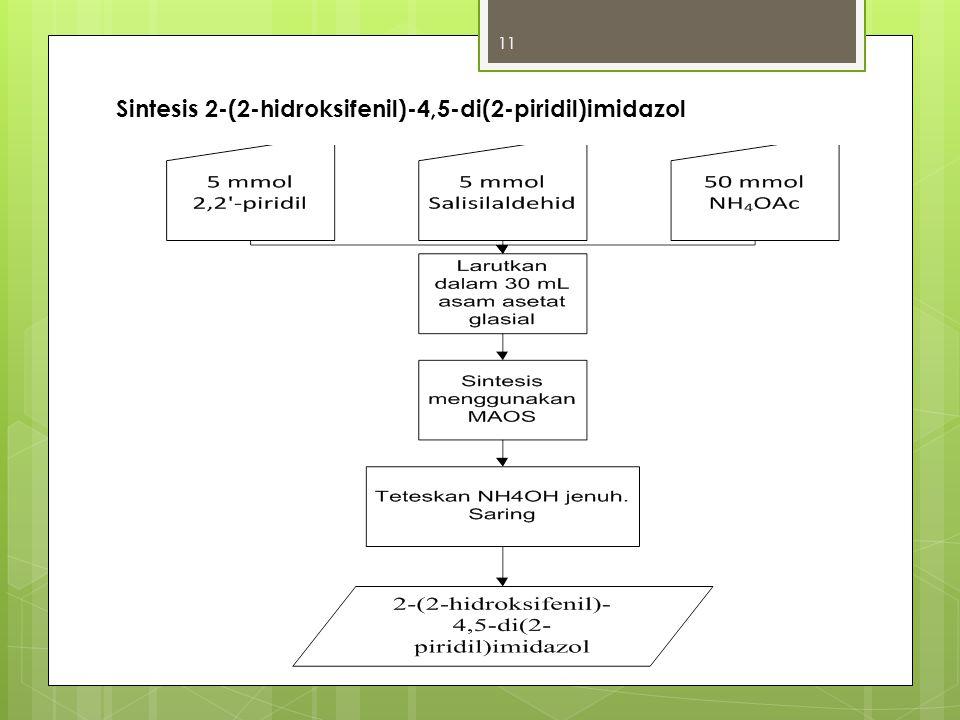 Sintesis 2-(2-hidroksifenil)-4,5-di(2-piridil)imidazol