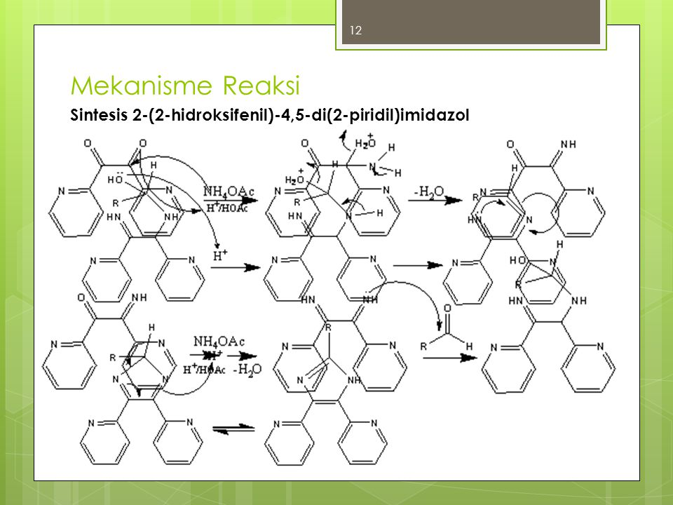 Mekanisme Reaksi Sintesis 2-(2-hidroksifenil)-4,5-di(2-piridil)imidazol