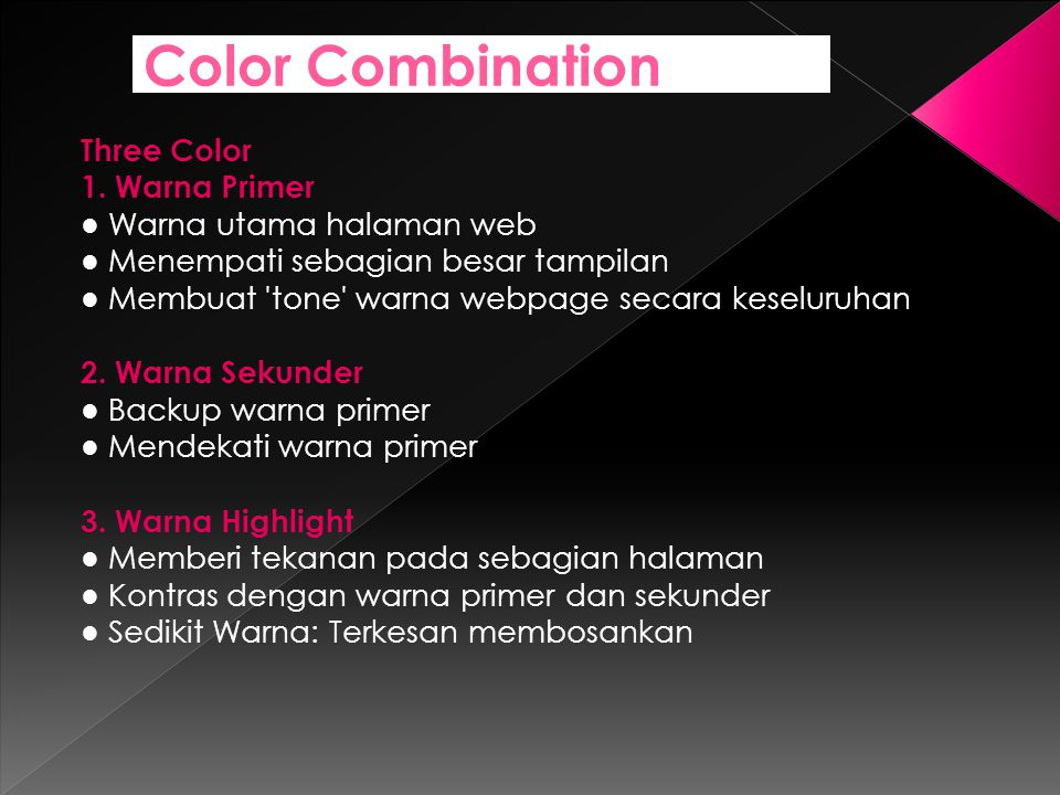 Color Combination Three Color 1. Warna Primer
