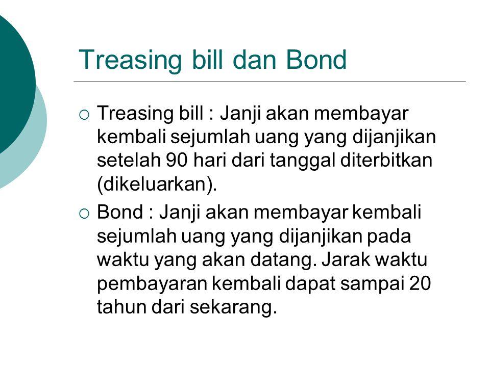 Treasing bill dan Bond
