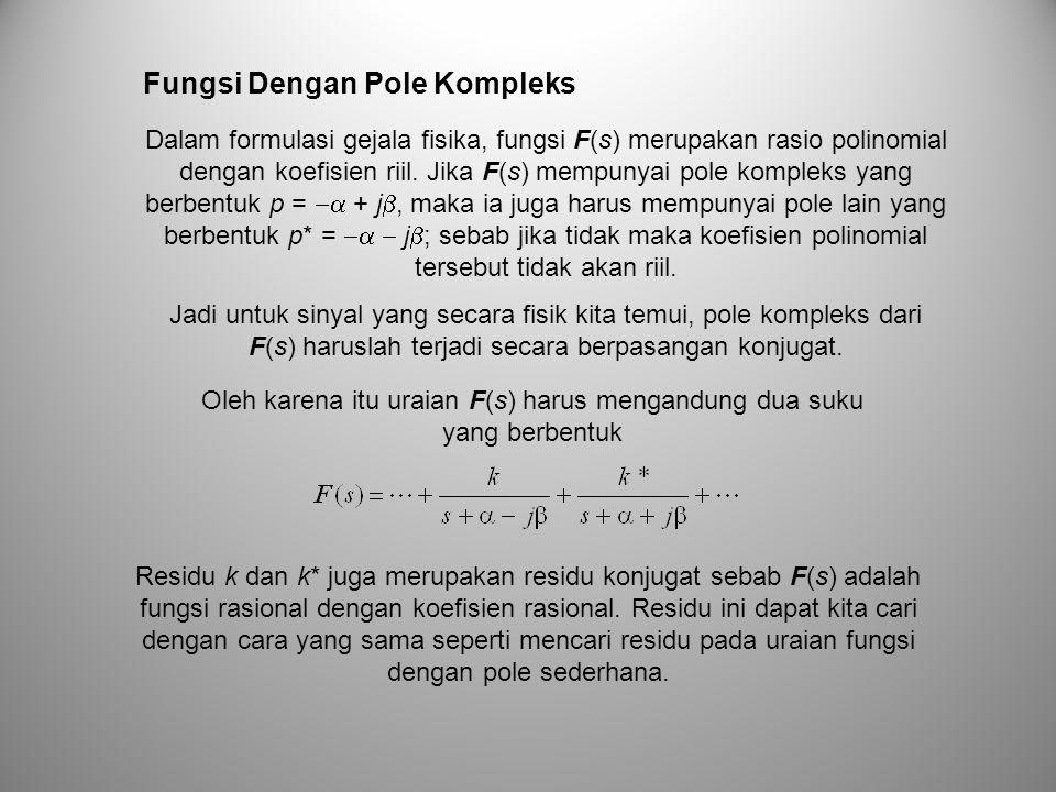 Oleh karena itu uraian F(s) harus mengandung dua suku yang berbentuk