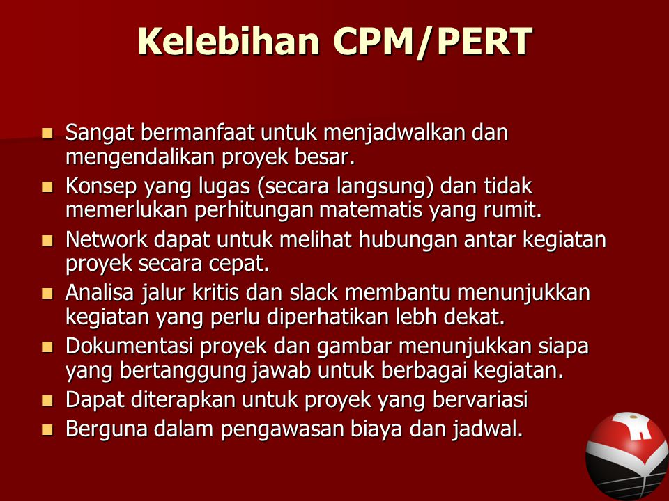 Bab 9 cpm dan pert ppt download 41 kelebihan cpmpert ccuart Image collections