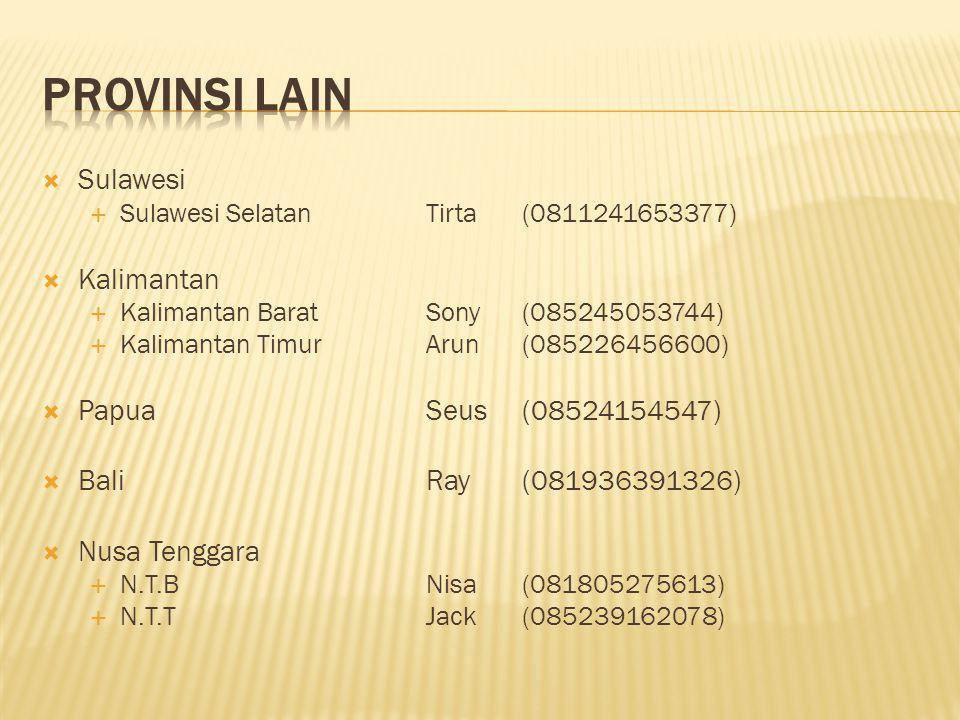PROVINSI LAIN Sulawesi Kalimantan Papua Seus (08524154547)
