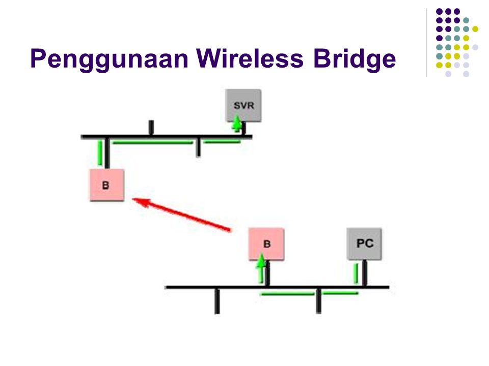 Penggunaan Wireless Bridge