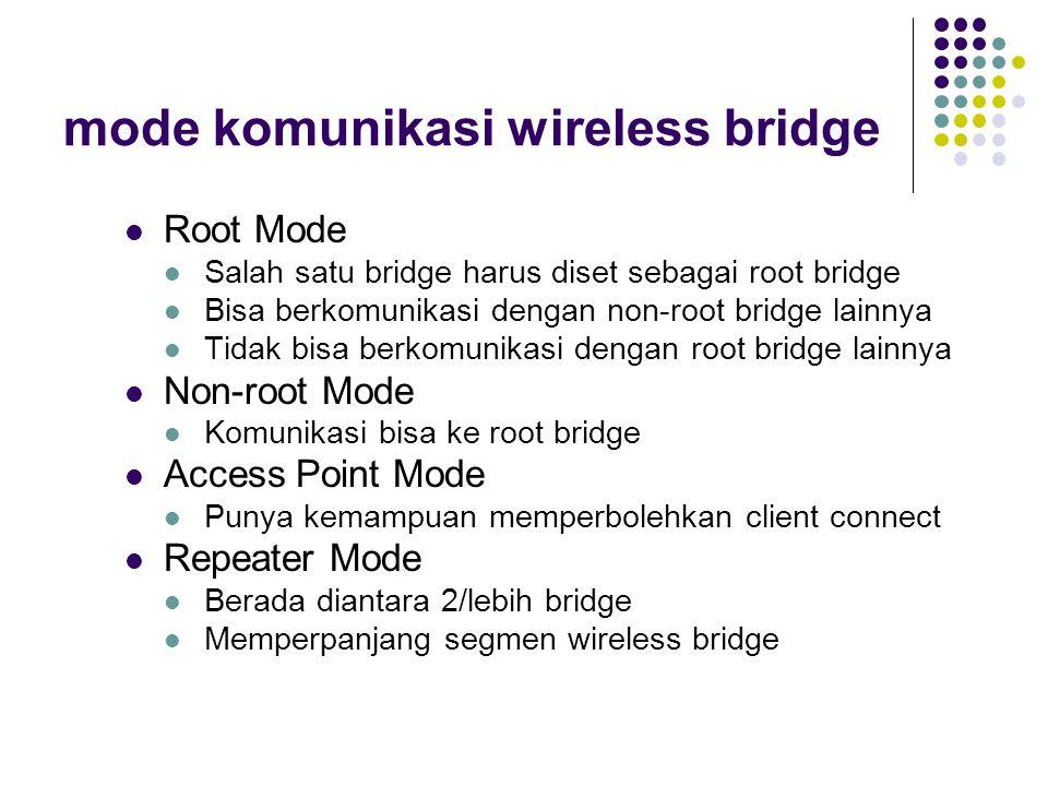 mode komunikasi wireless bridge