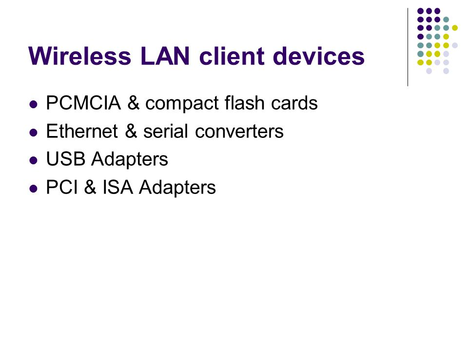 Wireless LAN client devices