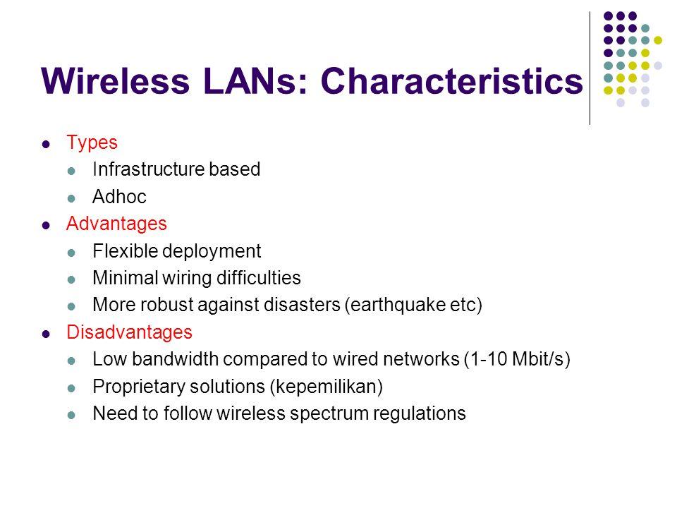 Wireless LANs: Characteristics