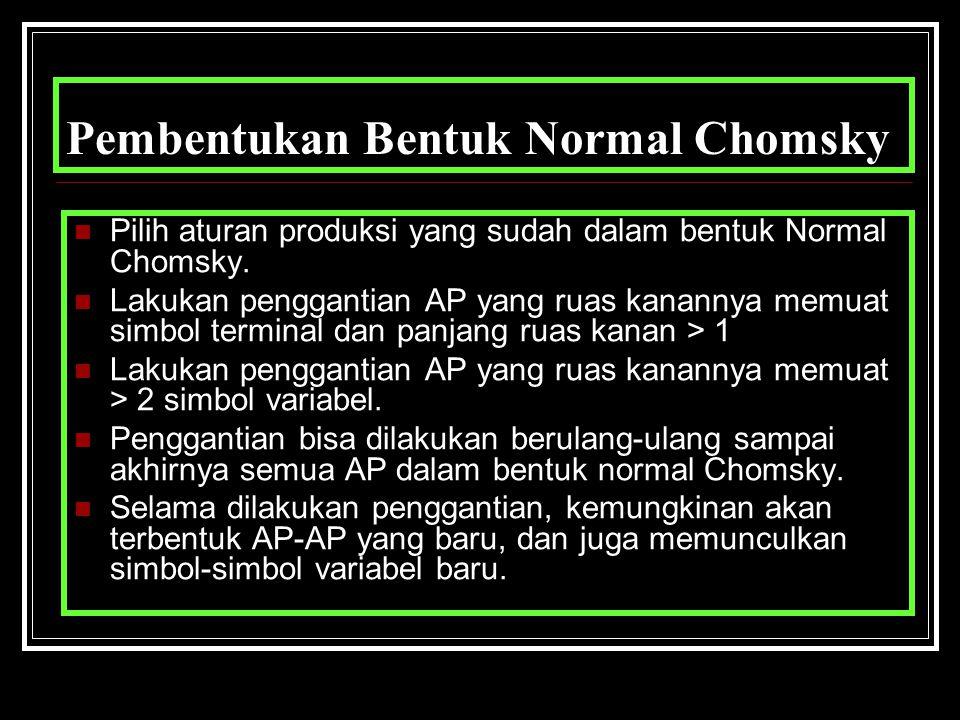 Pembentukan Bentuk Normal Chomsky