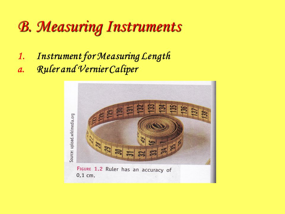 B. Measuring Instruments
