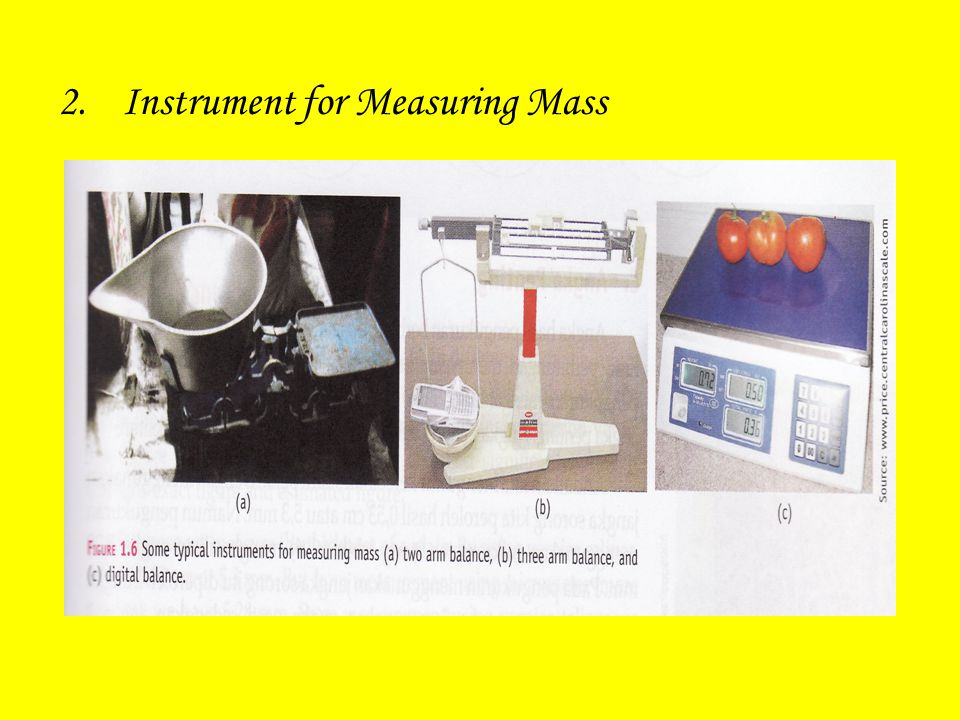 Instrument for Measuring Mass