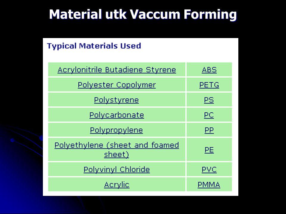 Material utk Vaccum Forming