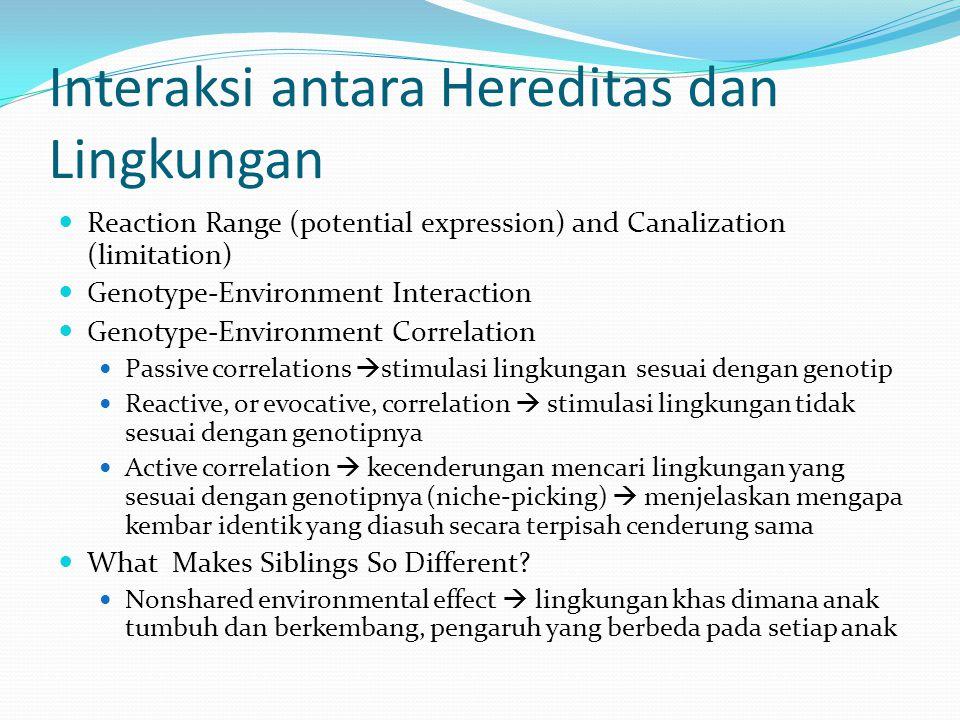 Interaksi antara Hereditas dan Lingkungan