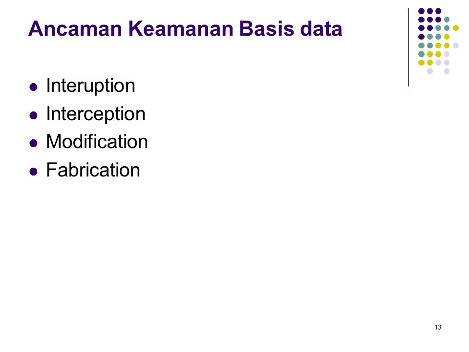 Ancaman Keamanan Basis data