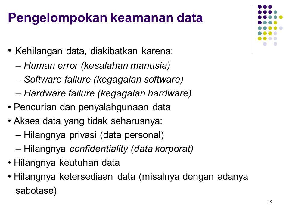 Pengelompokan keamanan data