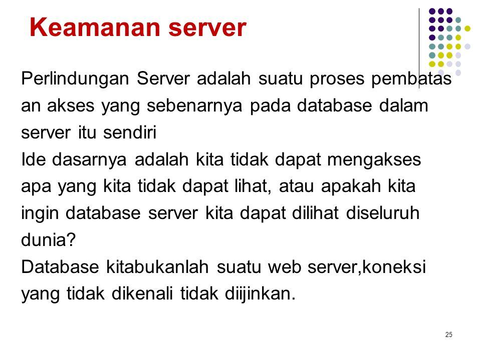 Keamanan server