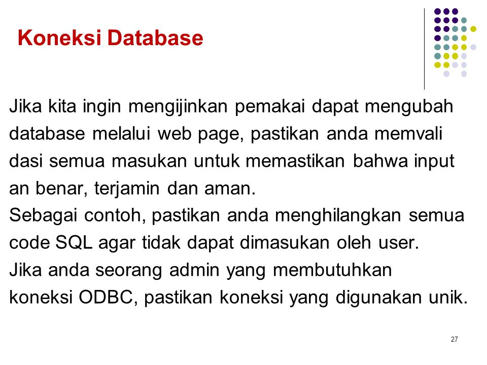 Koneksi Database