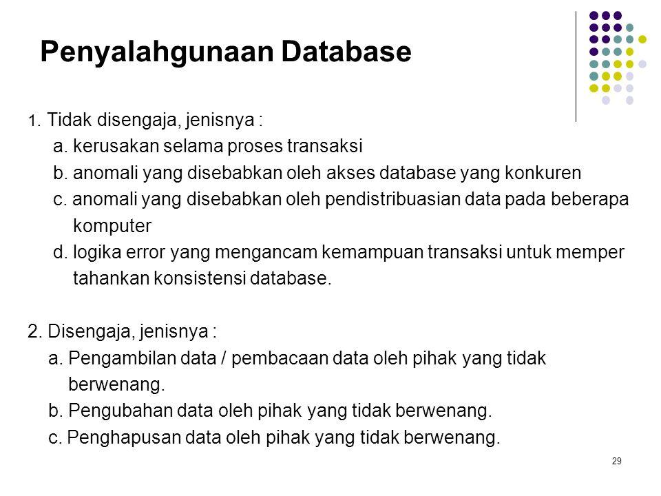 Penyalahgunaan Database