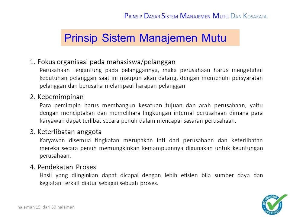Prinsip Sistem Manajemen Mutu