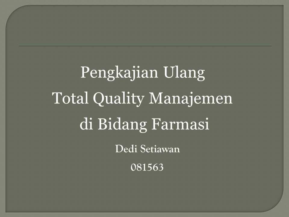 Total Quality Manajemen
