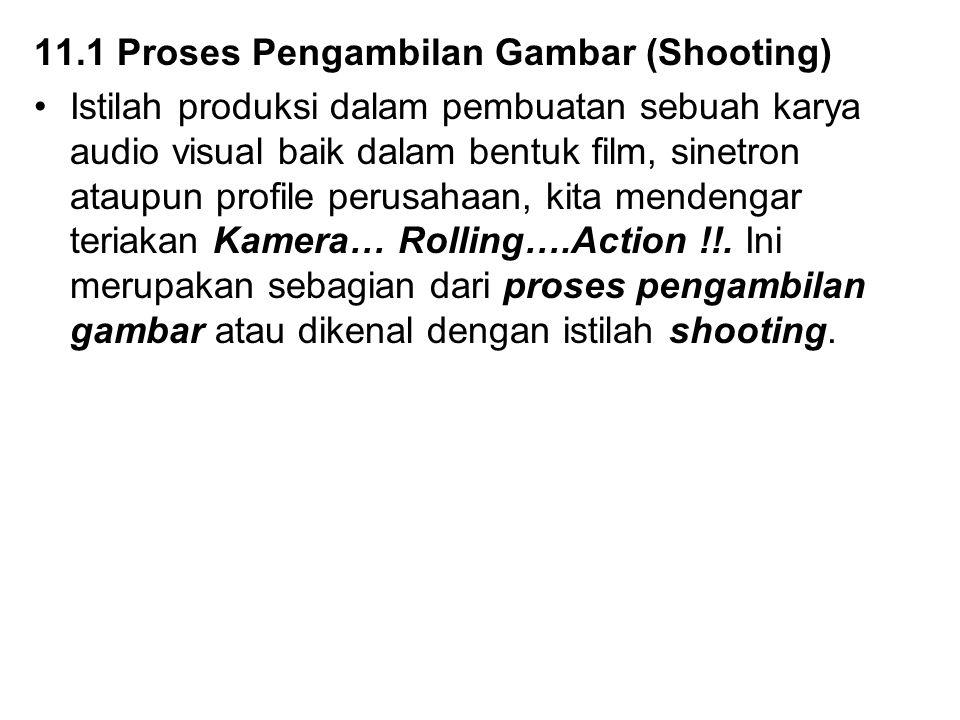11.1 Proses Pengambilan Gambar (Shooting)