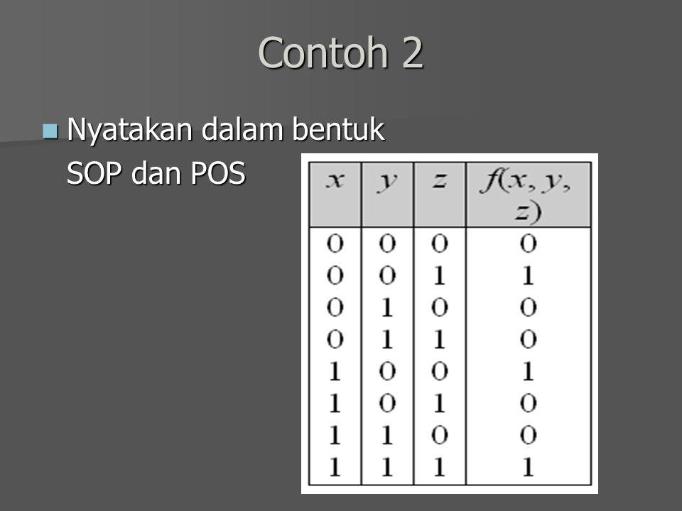 Contoh 2 Nyatakan dalam bentuk SOP dan POS