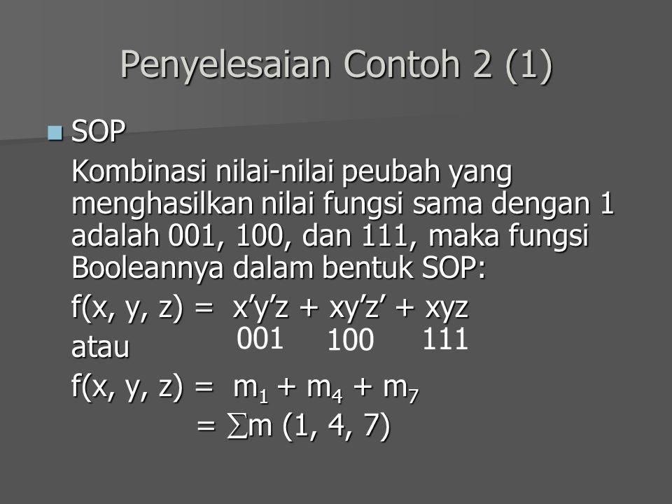 Penyelesaian Contoh 2 (1)