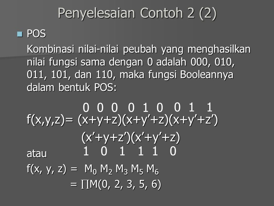 Penyelesaian Contoh 2 (2)