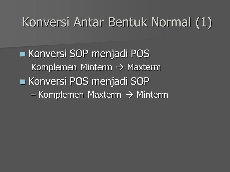 Konversi Antar Bentuk Normal (1)