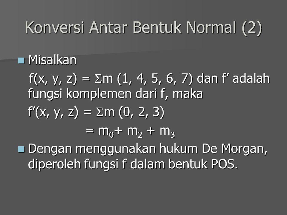 Konversi Antar Bentuk Normal (2)