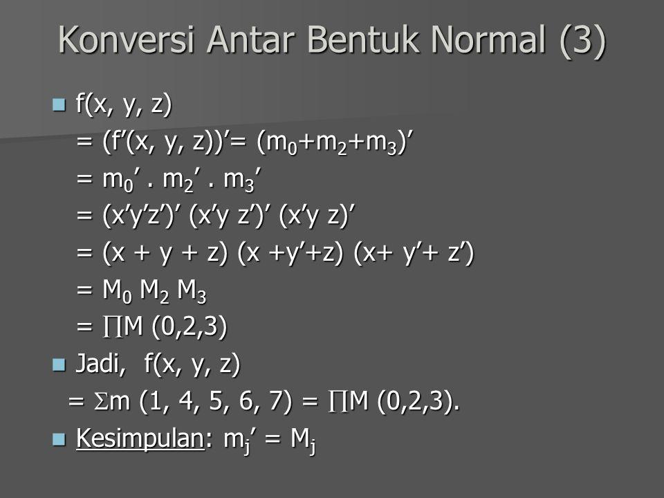 Konversi Antar Bentuk Normal (3)