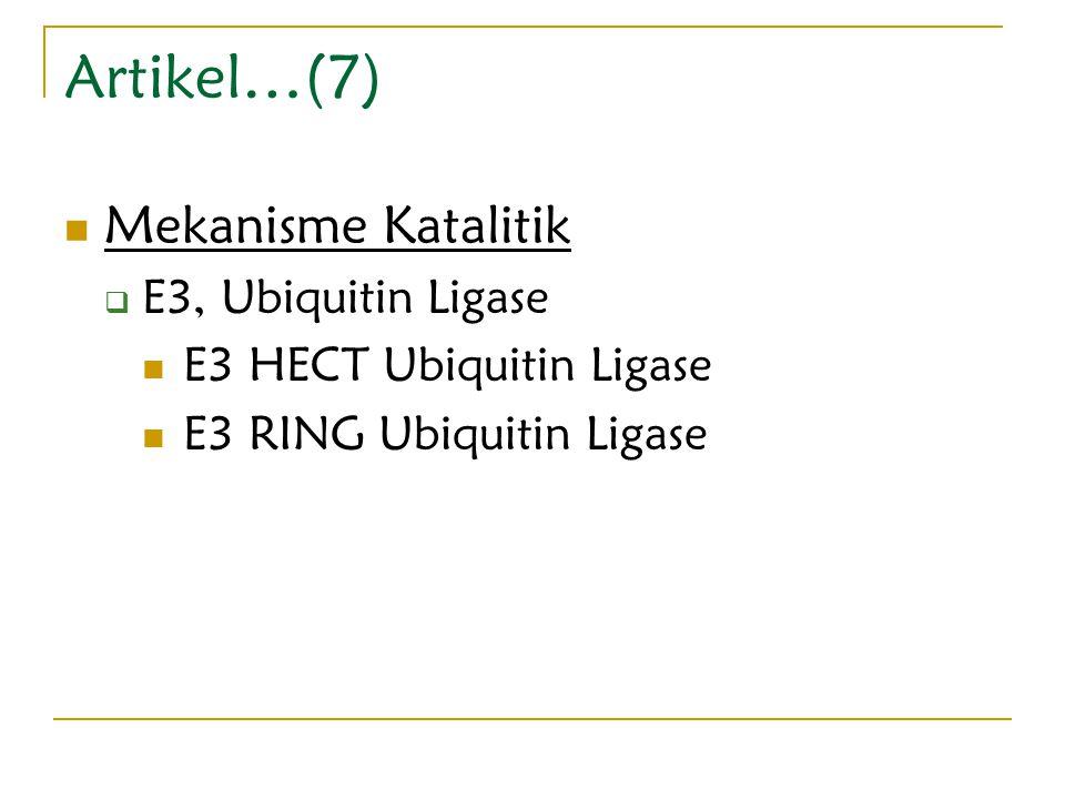 Artikel…(7) Mekanisme Katalitik E3, Ubiquitin Ligase